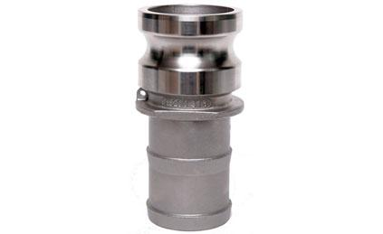 Type E Stainless Steel Camlock Coupling Male Adapter X Hose Shank